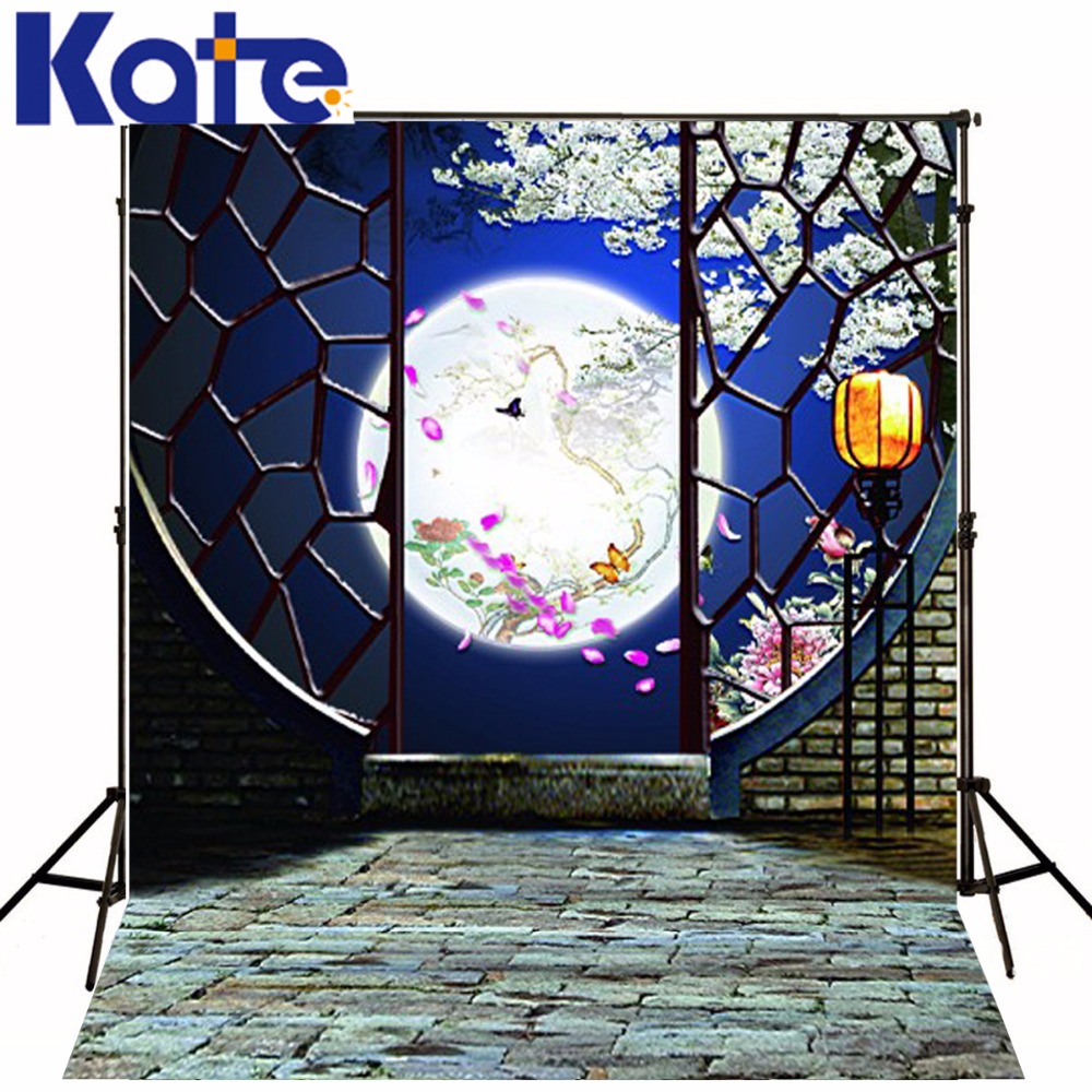200x300cm Kate Chinese Backdrops Moonlight Views Photography Backdrops Wedding Photography Backdrop 3553 LK kate flower wall pink backdrop romantic wedding photography backdrops spring photography backdrops large size seamless p
