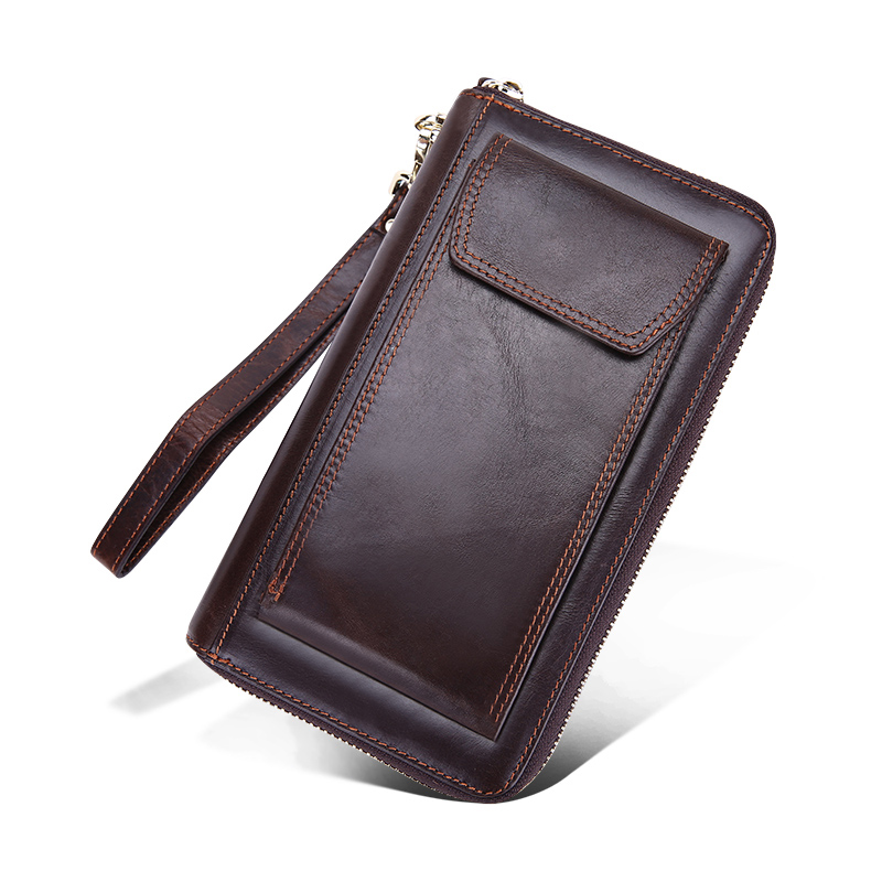 Cowhide Leather Wallet Clutch Bags Men Genuine Leather Money Wallet High Quality Crazy Horse Leather Male Wallet Clutch Money Wa fuzzy metal clutch wallet