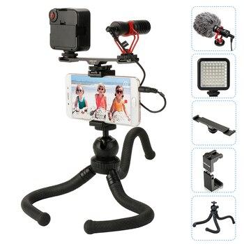 ボヤ BY-MM1 マイクとコールドシューエクステンションビデオライトタコ三脚電話 Iphone のための映画制作 Vlogging