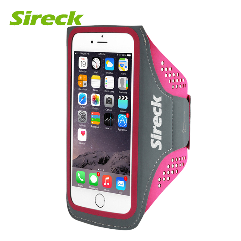 Sireck Outdoor Sport Bag Running Belt Arm Band Bag For 5.0 5.8 Inch Phone Waterproof Jogging Fitness Gym Armbands Cellphone Case