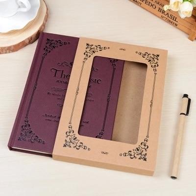 Koreanische Briefpapier Kreative Vintage Dicke A5 Harte Copybook Europäischen Stil Kreative Notebook Best Geschenk Skizzenbuch WZ