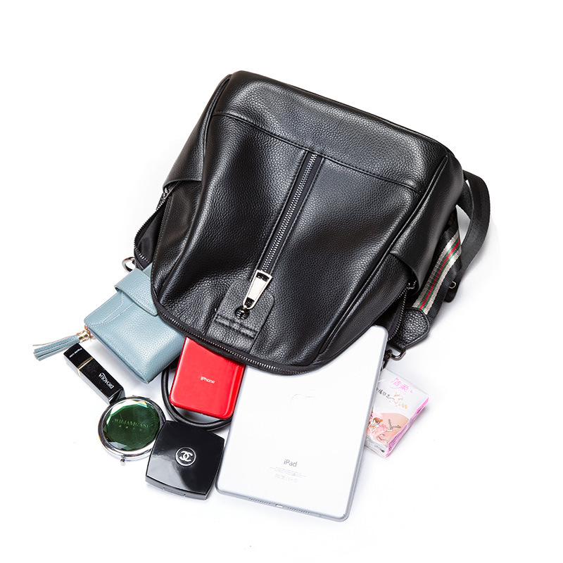 Brand Genuine Leather backpack women s Cowhide backpack Shoulder Bags Large capacity waterproof soft leather student bag in Backpacks from Luggage Bags