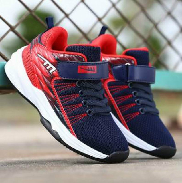 27dc9fa43f05 Basketball Shoes For Kids Outdoor Trainers Wear-Resisting Non-Slip Sports  Shoes Spring Athletic Children Sneakers Boys Girls