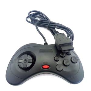 Image 3 - 2 pcs בקר משחק עבור Sega שבתאי SS שחור