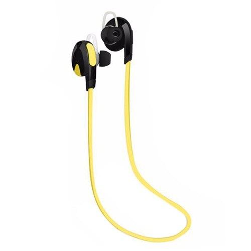 Bluetooth Sport Headset Wireless Stereo Earphone Headphone Hand Free Earpiece Color:Yellow