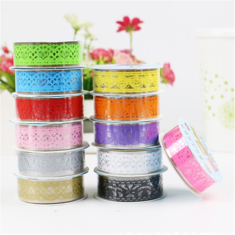 1 Pcs Tapes DIY Openwork Pattern Painting Paper Masking Tape Decorative Adhesive Tapes Stationery Kawaii Scrapbooking Supplies