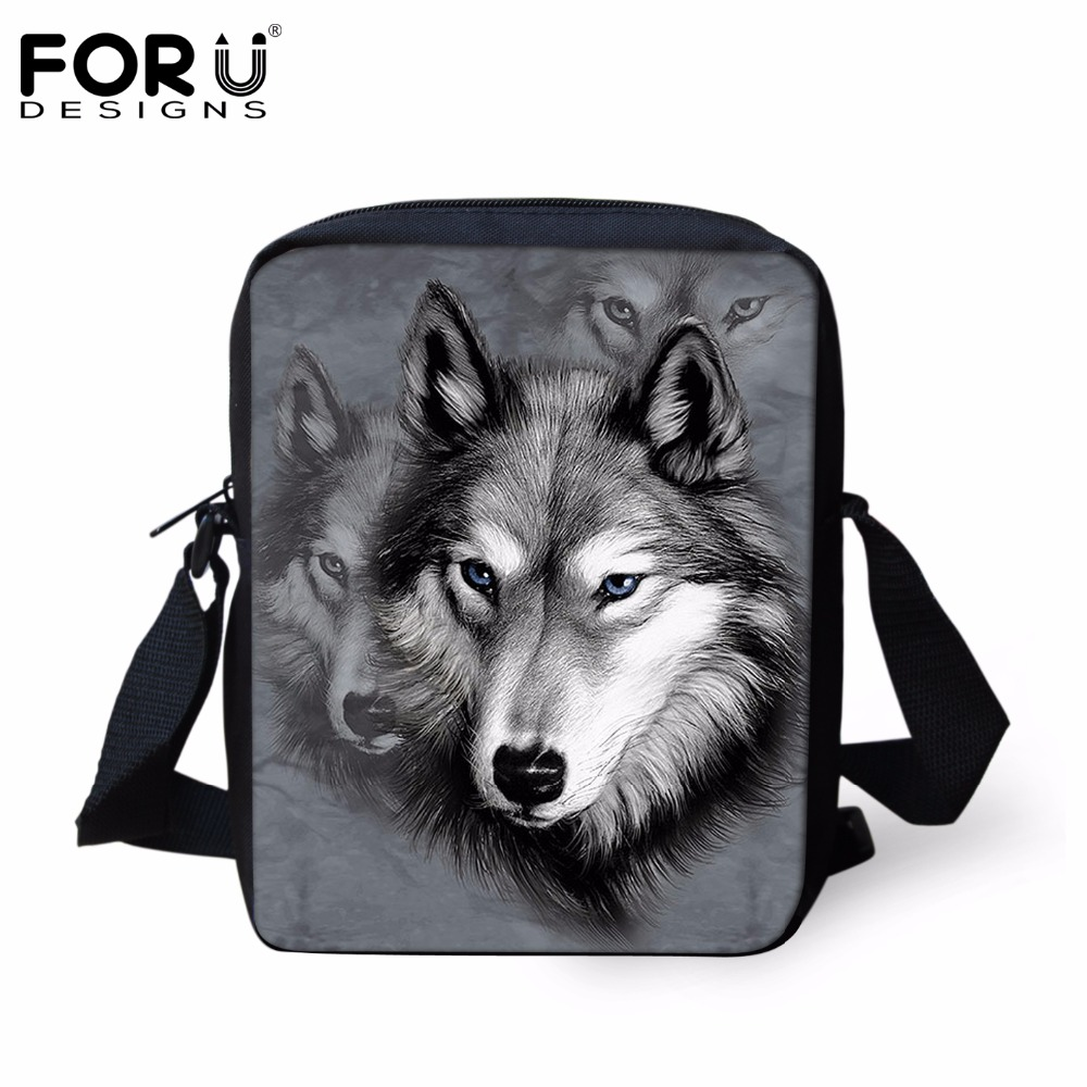58bfed1fa730 Men Messenger Bags Cool Animals Wolf Shoulder Bag Products