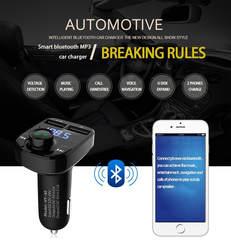 Автомобильный Стайлинг хит продаж Bluetooth автомобильный комплект MP3-плеер fm-передатчик беспроводной радио адаптер USB зарядное устройство