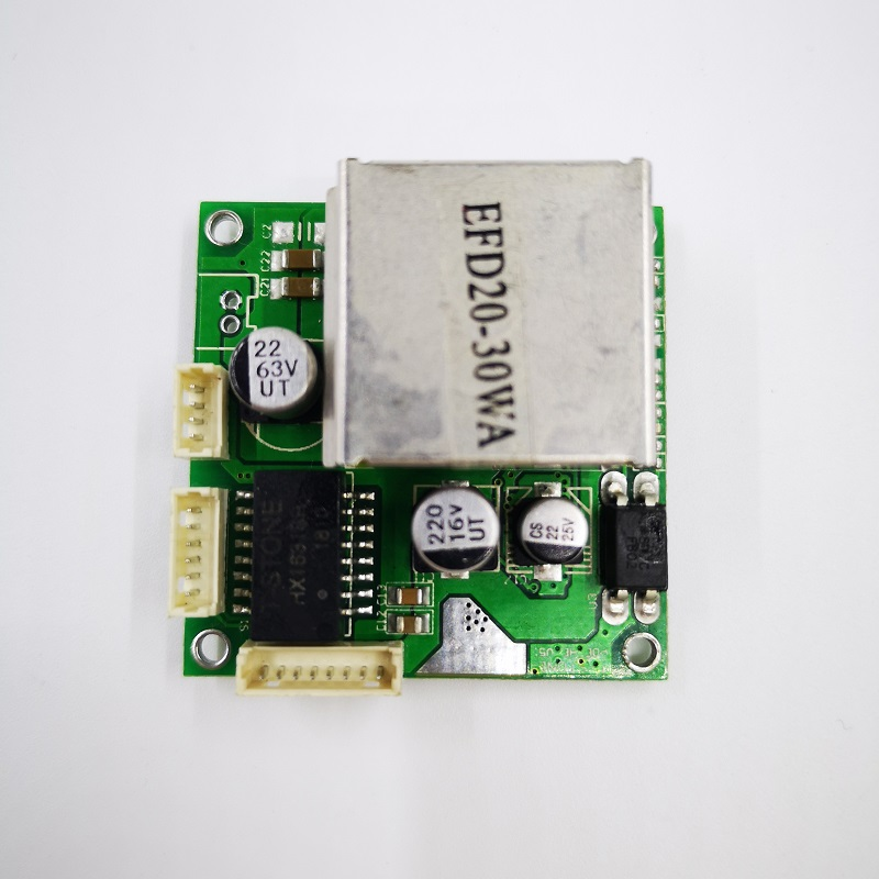 factory direct mini fast 10/100mbps 2 port ethernet network lan hub switch board two layer pcb 2 rj45 1*8pin head port