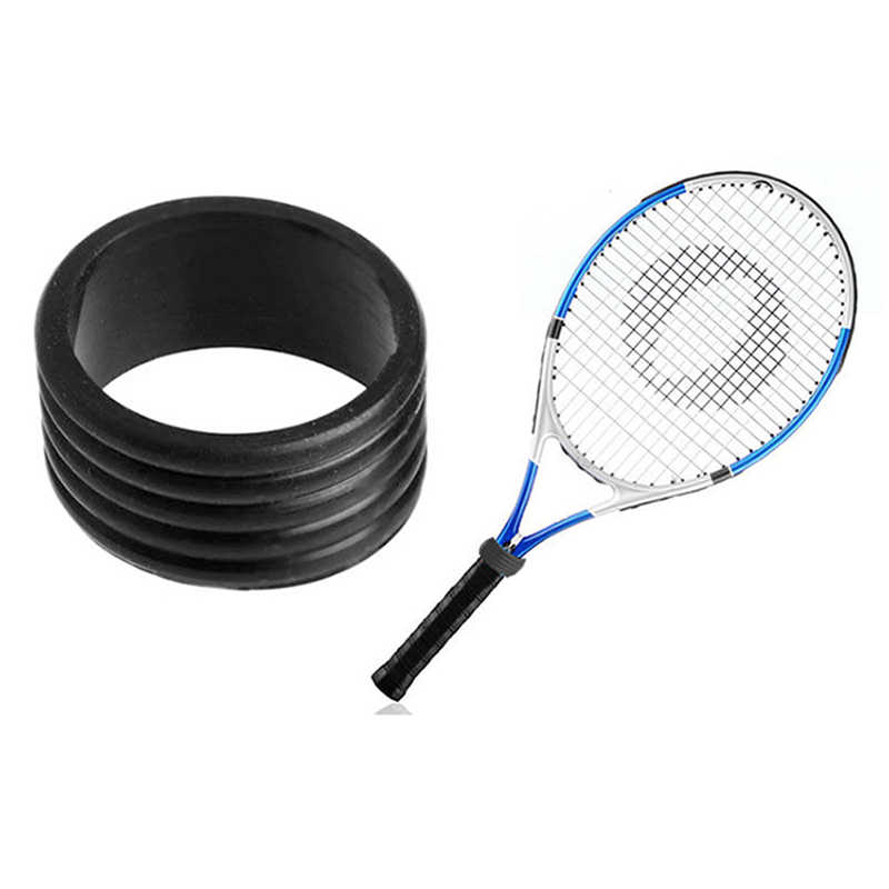 Stretchy Tennis Racket Handle's Anti-slip Rubber Ring Racquet Band Overgrips Silicone Handle Ring Racket Accessories