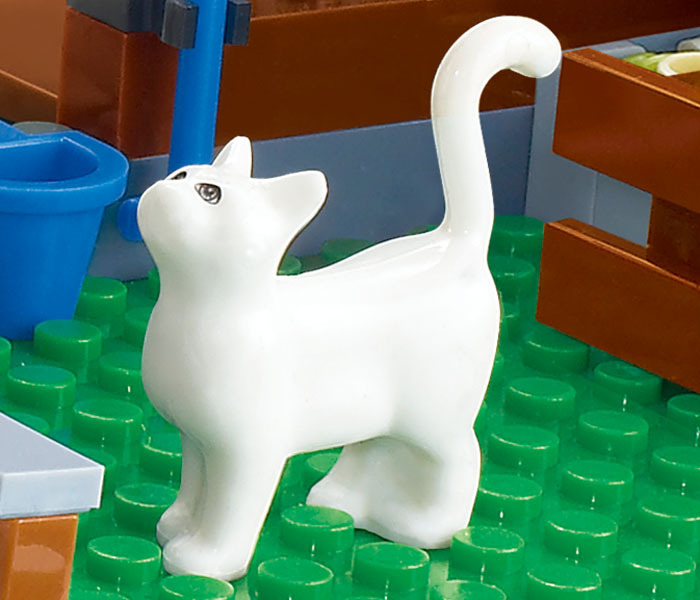 Animal cat compatible accessory bricklink DIY building block brick assemble particles brickset (285)