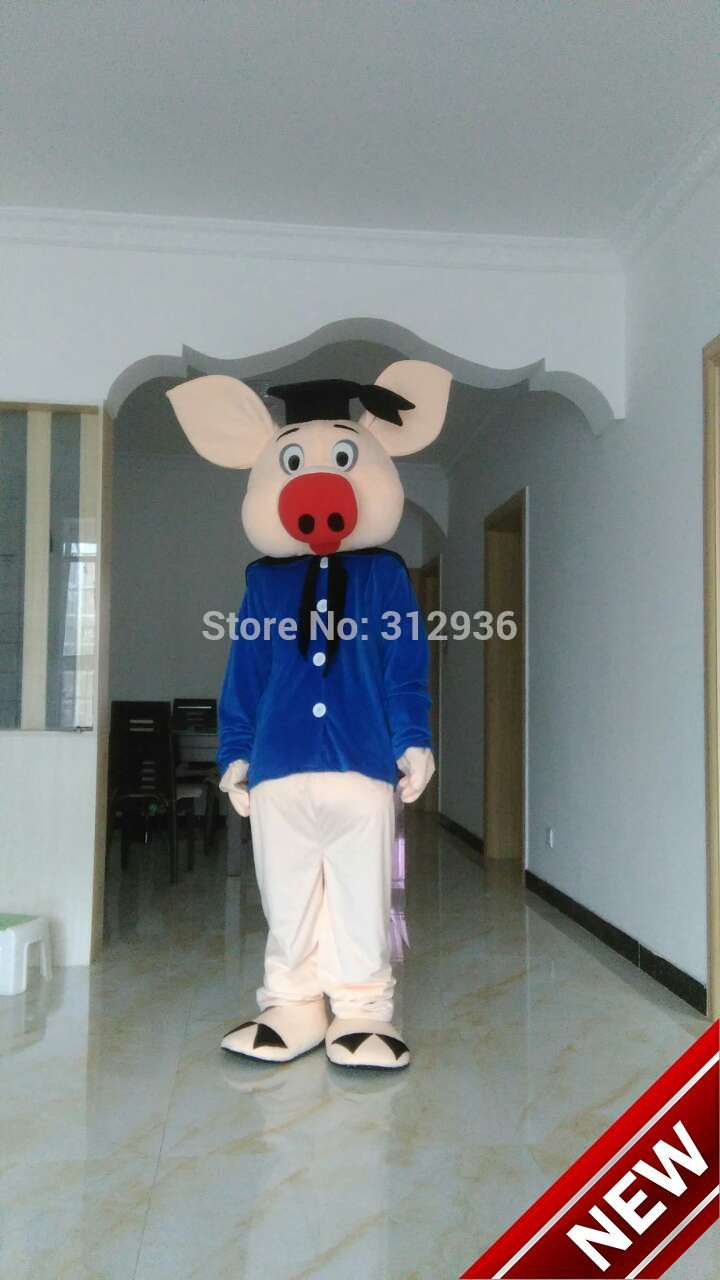 2018 New Mascot Costumes For Adults Christmas Halloween Outfit Fancy Dress Suit Free Shipping Pig Dor