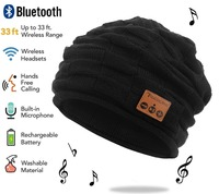 Bluetooth Beanie Hat With Rechargeable Unisex Wireless Beanies Control Panel Removable Stereo Headphones Wool Knit Music
