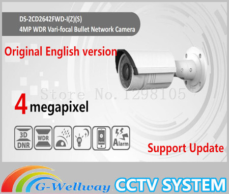 2016 New Free Shipping English Version Ds-2cd2642fwd-izs 4mp Wdr Bullet Network Ip Cctv Camera Vari-focal Motorized Lens Poe free shipping in stock new arrival english version ds 2cd2142fwd iws 4mp wdr fixed dome with wifi network camera