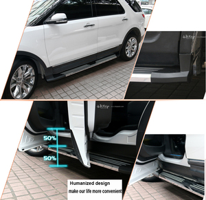 Image 4 - New arrival running board side step side bar for Ford Explorer 2011 2019,Guarantee quality,aluminum alloy baseplate,load 250kg