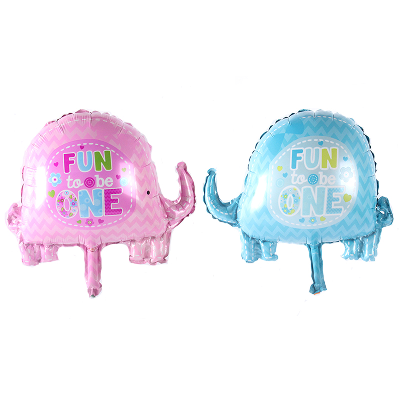 18in Event Decoration Baby Shower Elephants Foil Party Balloon 45cm