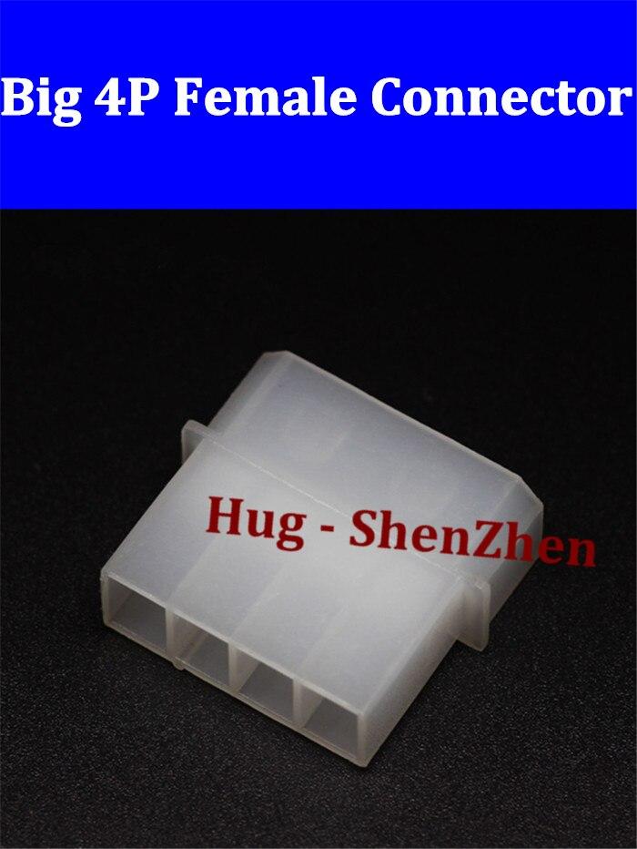Putih besar 4 P perempuan untuk konektor Power IDE shell-200pcs plastik lot 5e842dc852