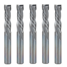 5pcs Up Down Cut 6MM AAA Solid Carbide CNC Router Endmill Compression Wood Tungsten End Milling Cutter Tool Bit