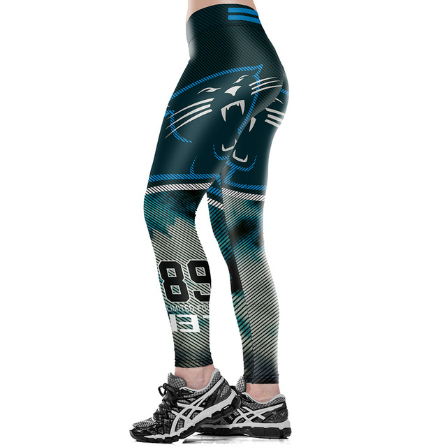 Unisex Football Team Panthers 89 Tight Pants Workout Gym Training Running Yoga Sport Fitness Exercise Leggings Dropshipping