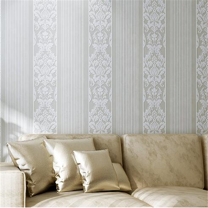 Breathable Non-Woven Fabric 3D Textured Project Wallpaper Roll European Style