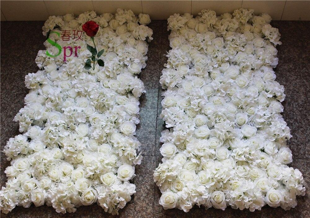 SPR 2018 rose blume wand hochzeit hintergrund künstliche blume reihe und arch dekorative flore Freies Verschiffen