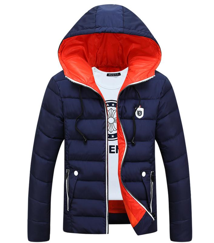 ФОТО The 2016 Winter Coat Thick Warm Cotton Casual Jacket Feather Coat Hoodie Jacket + L - 4 Xl Size