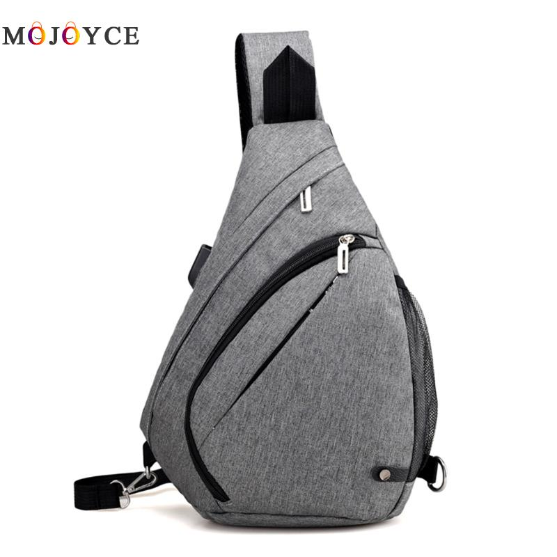 USB Charge Interface Men Messenger Bags Women Couple Chest Bag Sling Bag Shoulder Satchel Large Crossbody Sling Charing Bag