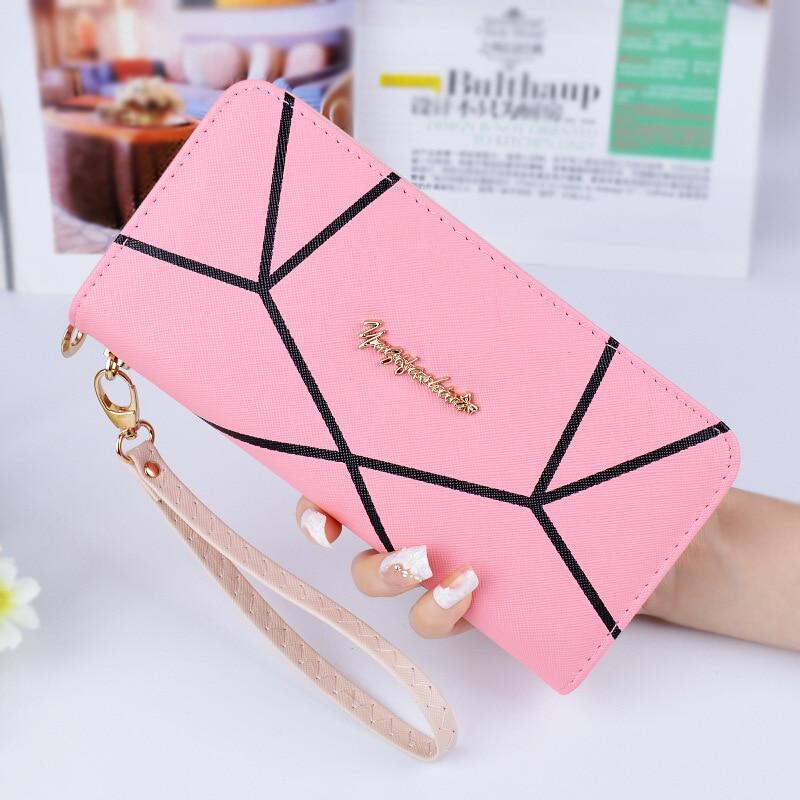 Valink 2017 Famous Brand Geometric Designs Long Wallets Ladies Fashion Women Zipper Wallet Hand Bag Clutches Carteira Feminina 1