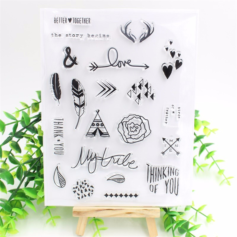 The Story Begins Transparent Clear Silicone StampSeal for DIY scrapbookingphoto album Decorative clear stamp sheets