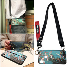 3d flower bird shoulder strap silicon case for xiaomi redmi note 7 6 5 pro mi A2 8 9 A1 case cover wristband holder soft phone b стоимость