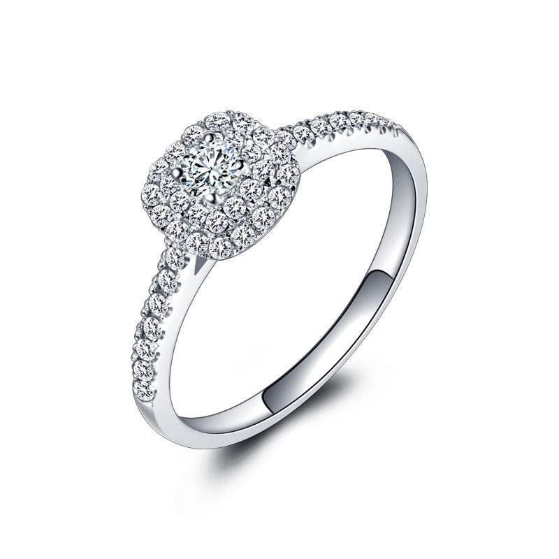 18k Gold And White Gold 1 Carat Ring Diamond Platinum Wedding Couples Seeking Marriage Ring Wedding Ring Genuine hot sale couples wedding bands lock and key love solid 18k white gold diamond engagement ring wu141
