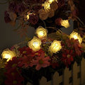20 LED White String Lights Battery Operated Rose Fairy Lights Valentine String Lights Wedding Garden Party Christmas Decoration
