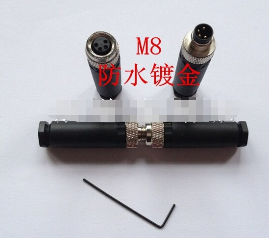 5pairs M8 4 Pin locking Connectors Aviation Plug Socket Male & Female Wire Panel Connector Adapters Adaptor m12 aviation plug 8pins stragiht female or male plugs sensor connector socket connectors