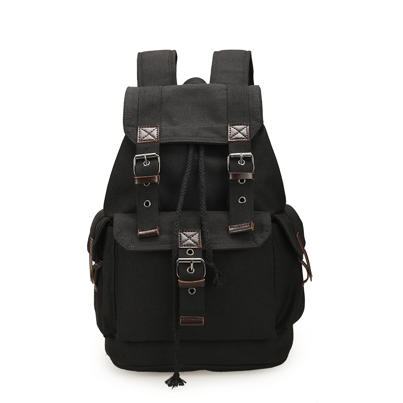 YUTUO Man's Vintage Canvas Backpack Travel Schoolbag Male Backpack Large Rucksack Shoulder Mochila Escolar High Huality