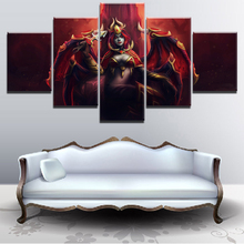 HD Print Painting Decorative Picture Home Living Room Wall Art Canvas Printed Game Poster 5 Piece DOTA 2