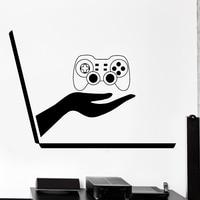 Wall Decal Gaming Joystick Joypad Laptop Video Gamer Vinyl Decal
