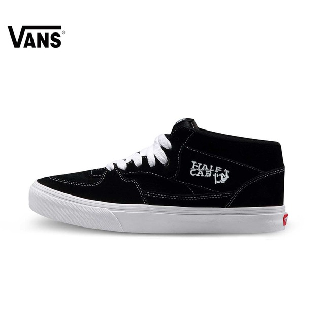 Original Vans Half Cab Black Color Unisex Men s and Women s Skateboarding  Shoes Sports Shoes Sneakers 5a47ed94df