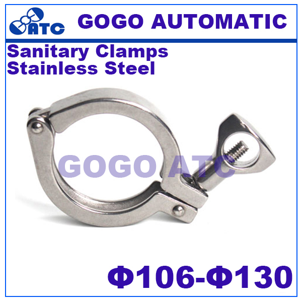 Sanitary Clamps  O.D 106 - 130mm stainless steel Food grade Sanitary clamp Ferrule Single Pin Tri Quick Clamps
