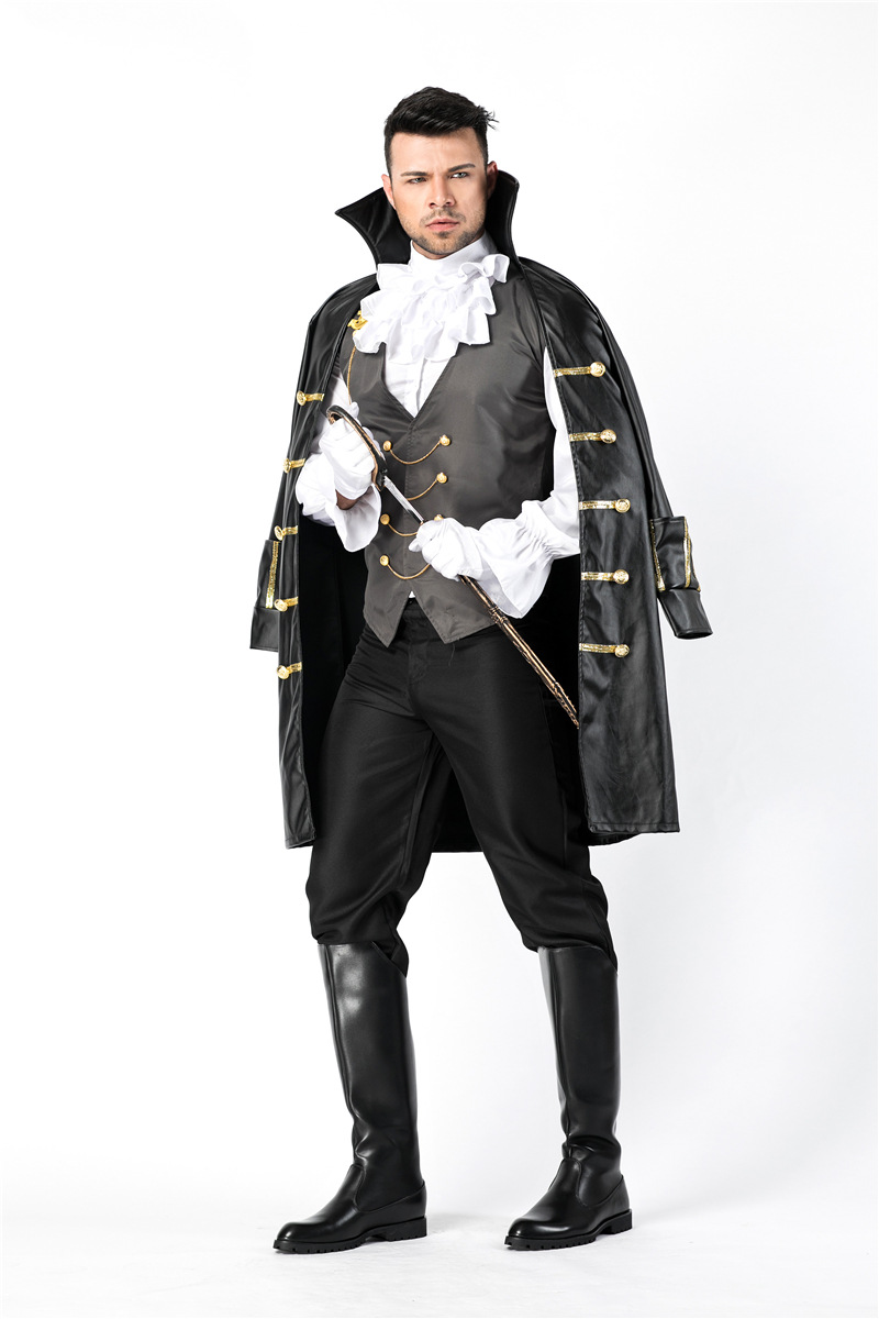 8a2b0440655 New Medieval Court Earl Halloween Cosplay Costumes For Men Party Fancy  Dress Masquerade Costume Suitable For 170 190 CM on Aliexpress.com