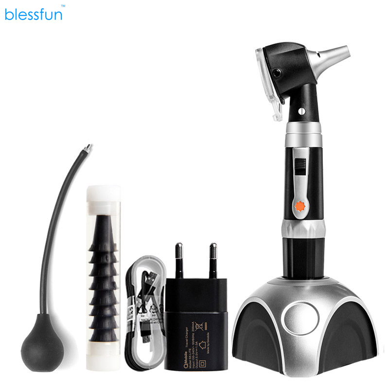 Superbright fiber optic otoscope rechargeable diagnostic kit medical ear care product LED otoscopio medical diagnostic penlight otoscope ear care magnifying lens clinical flashlight led light pen ear care tools