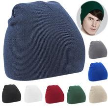 Fashion New Women Men Winter Solid Hat Unisex Plain Warm Soft Beanie Knit Hats Knitted Bonnet Caps JL