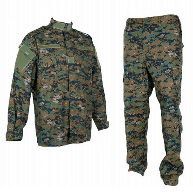 CQC Tactical Airsoft Military Army Combat BDU Uniform Men Jacket & Pants Set Digi-Woodland Camouflage Outdoor Paintball Hunting