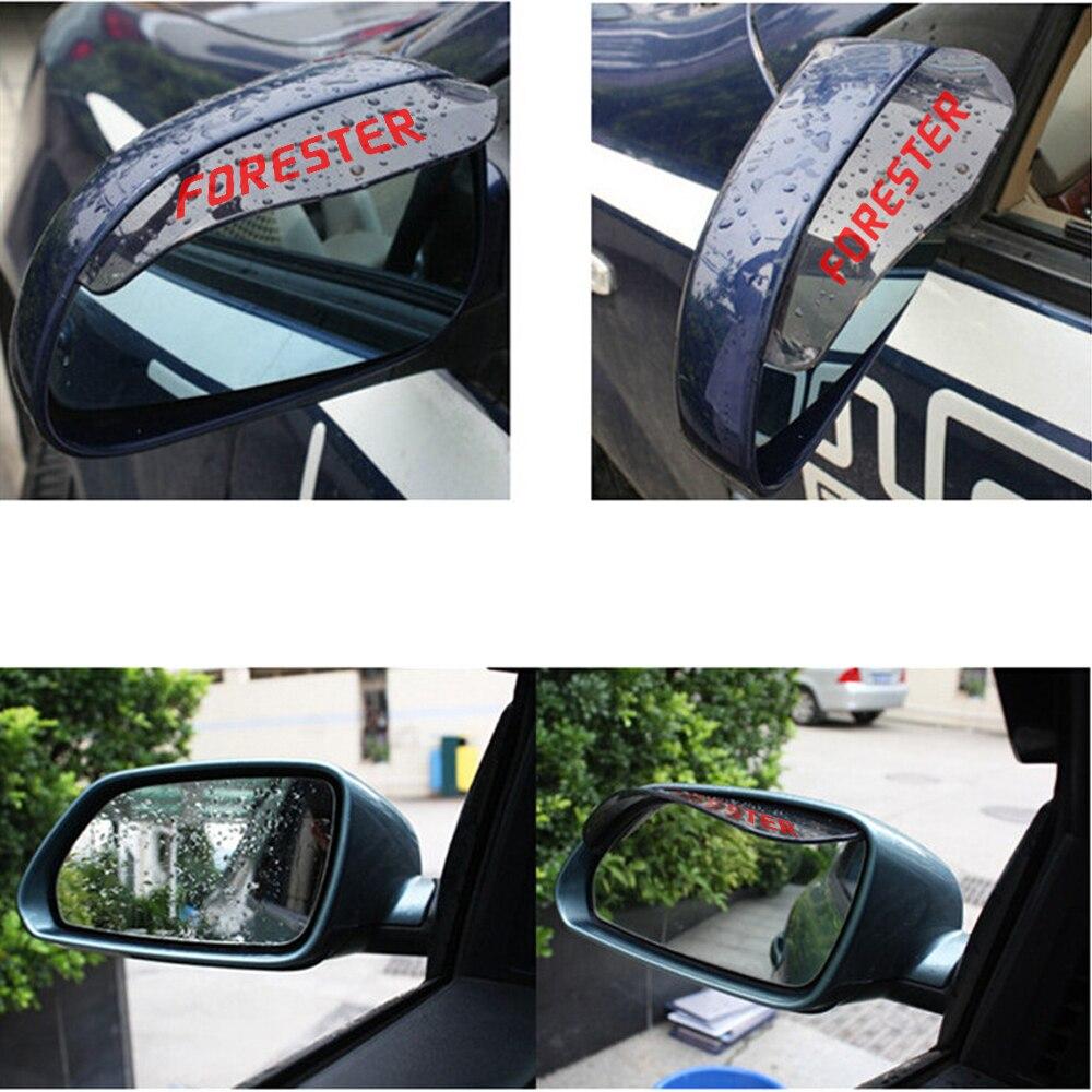 2 ədəd Subaru Forester Yeni Arxa Baxış Güzgü Yağış Kölgəsi - Avtomobilin xarici aksesuarları - Fotoqrafiya 4