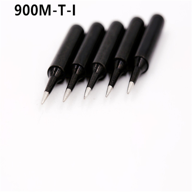 SZBFT 5piece Black 900M-T-I Series Horseshoe Type Iron Head Welding Tip Soldering Iron Tip 900M-T B K SK 1C 2C 3C 4C 1.2D 2.4D