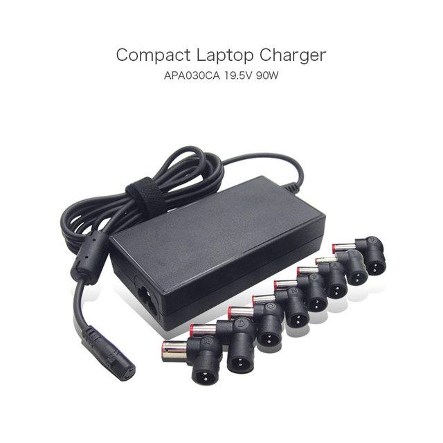19 v 90 w ac universal semi-fino carregador portátil para lenovo para hp para acer para toshiba para targus apa30ca notebook