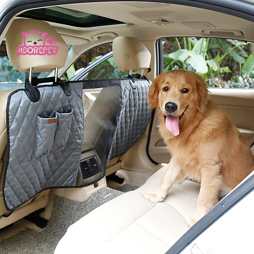 Dog Pet Cat Car Seat Safety Barrier Deluxe Vehicle Travel Pet Dog Car Seat Fence Back Seat Isolation Net With Pocket 3 color