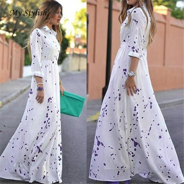 Hot Sale ! 2017 New Fashion Women Sexy Summer Boho Evening Party Long Beach  Dress Chiffon Plus Size High Quality Wholesale Dec 8 72b36a2a9bb2
