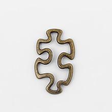 20 штук античная бронза открытое осознание аутизма подвески в форме кусочка пазла Подвески соединители фурнитура для украшений