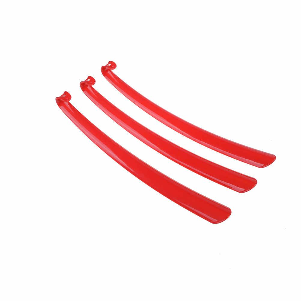 Color aleatorio 1 piezas Extra largo plástico zapato removedor de bocina discapacitados movilidad ayuda palo Flexible