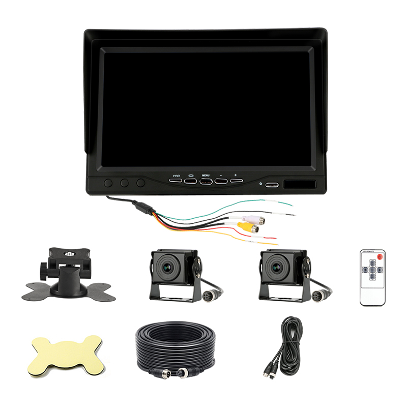 Jansite 7 quot AHD Car monitor TFT LCD 2 Channel DVR Recording Sun visor Rear View Camera Parking Rearview System for Backup Camera in Car Monitors from Automobiles amp Motorcycles